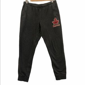 Roots Sweatpants Grey with Maple Leaf Small